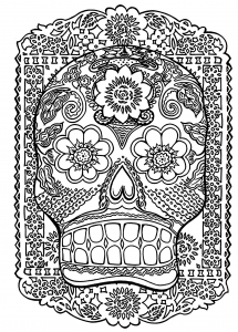 coloriage-adulte-tete-de-mort free to print