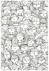 coloriage-adulte-visages-zen-anti-stress-a-imprimer free to print