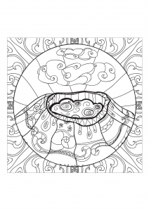 coloriage-adulte-volcan-1 free to print