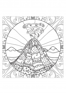 coloriage-adulte-volcan-2 free to print