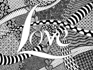 coloriage-amour-zen free to print