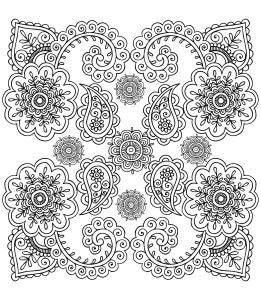 coloriage-anti-stress-fleurs free to print