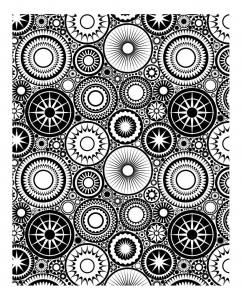 coloriage-anti-stress-rosaces free to print
