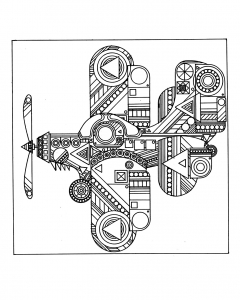 coloriage-avion-zen free to print