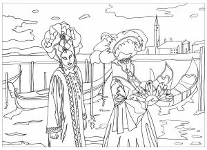 coloriage-carnaval-de-venise-par-marion free to print