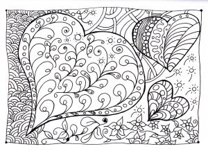 coloriage-coeur-zen free to print