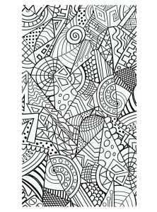 coloriage-formes-geometriques-harmonieuses free to print