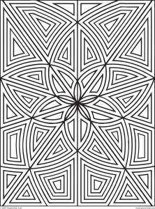 coloriage-labyrinthe-fleurs-zen free to print