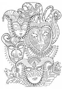 coloriage-masques-carnaval free to print