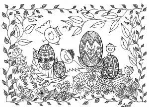coloriage-oeufs-de-paques-par-leen-margot free to print