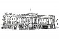 coloriage-adulte-buckingham-palace-illustration-1820 free to print