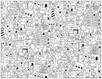 architecture coloring book pages | Architecture et habitation - Coloriages difficiles pour ...