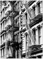 coloriage-adulte-escaliers-new-york free to print