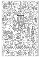 coloriage-adulte-incroyable-chateau free to print