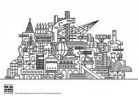 architecture et habitation coloriages difficiles pour adultes page 3. Black Bedroom Furniture Sets. Home Design Ideas