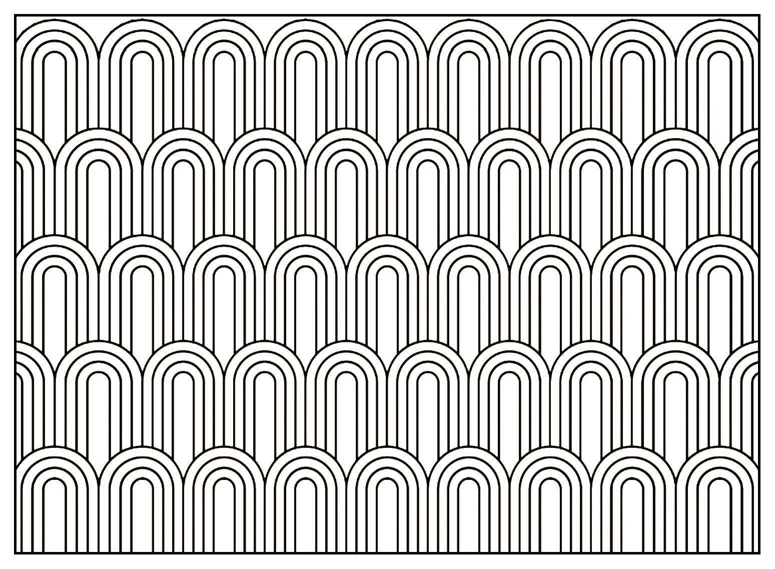 art d co coloriages difficiles pour adultes coloriage adulte motifs geometriques art deco 7. Black Bedroom Furniture Sets. Home Design Ideas