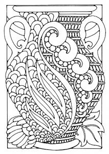 coloriage-adulte-vase-style-art-deco free to print