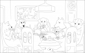 "coloriage-adulte-a-friend-in-need"" free to print"
