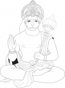 coloriage-adulte-hanuman free to print