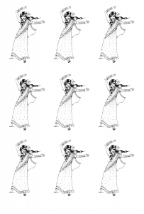 coloriage-inde-bollywood-danse free to print