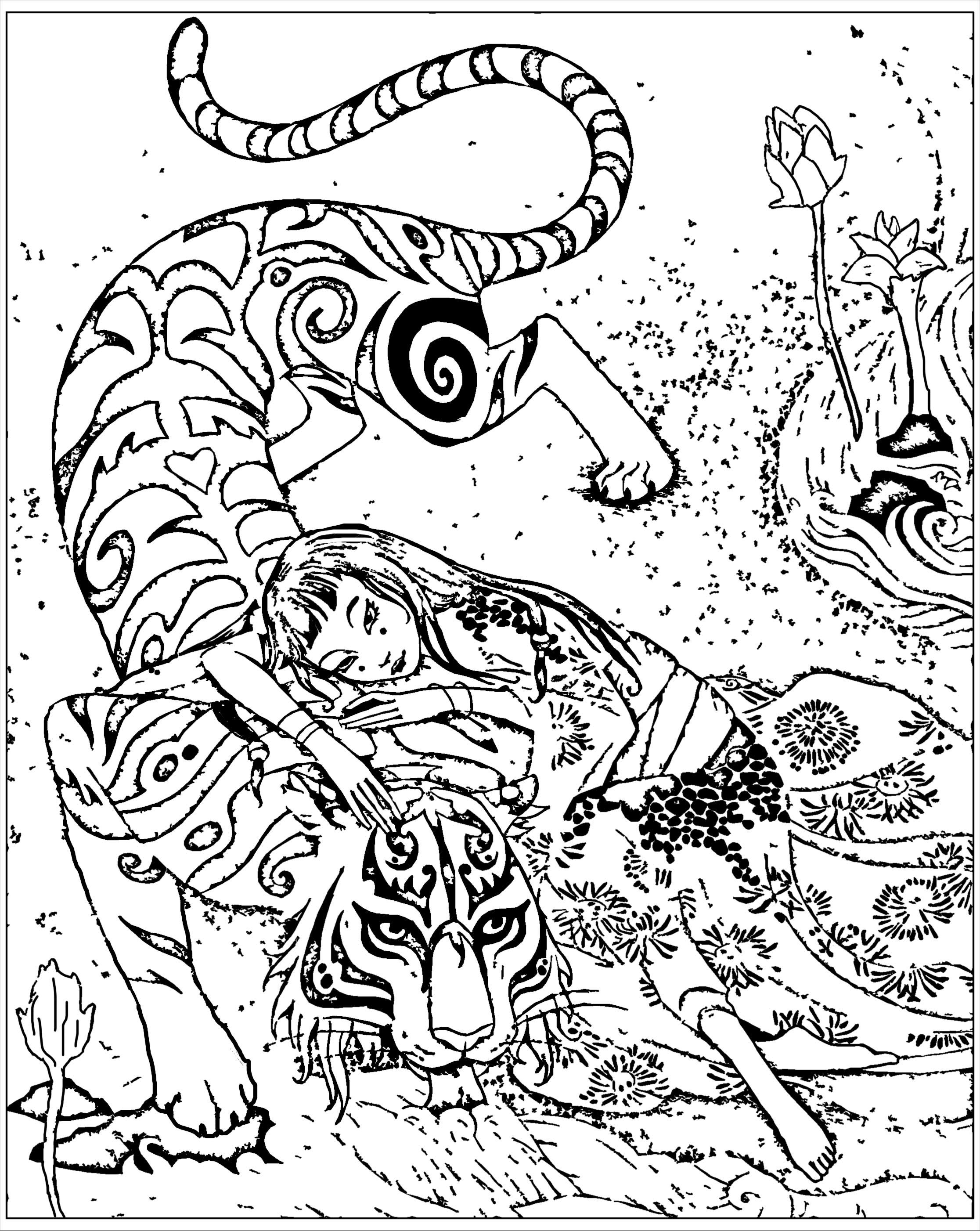 Coloriage inspiré du livre Le tigre dévoué, de Qifeng ChenA partir de la galerie : Chine Asie