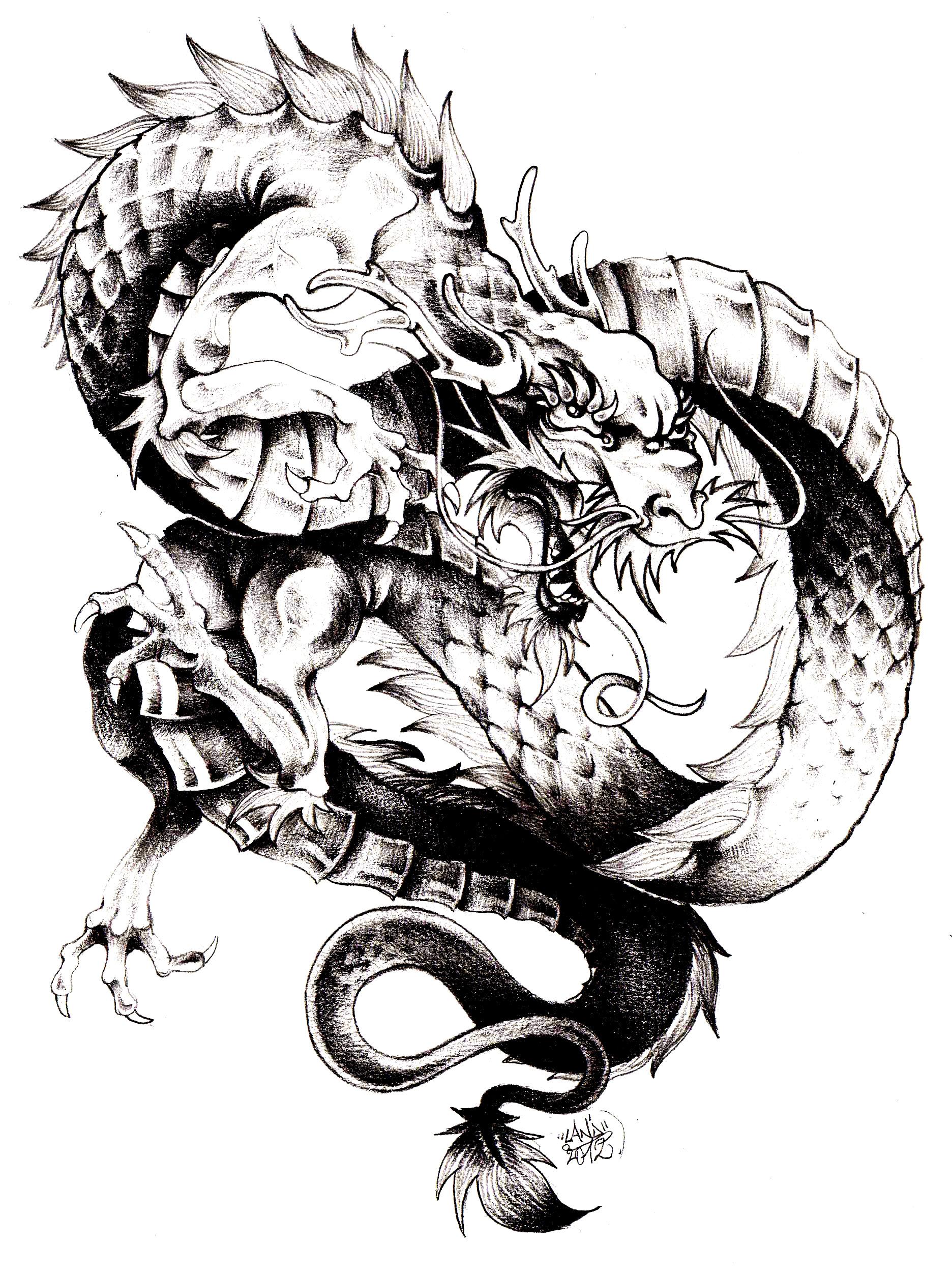 Magnifique Dragon chinois à imprimer et colorierA partir de la galerie : Chine Asie