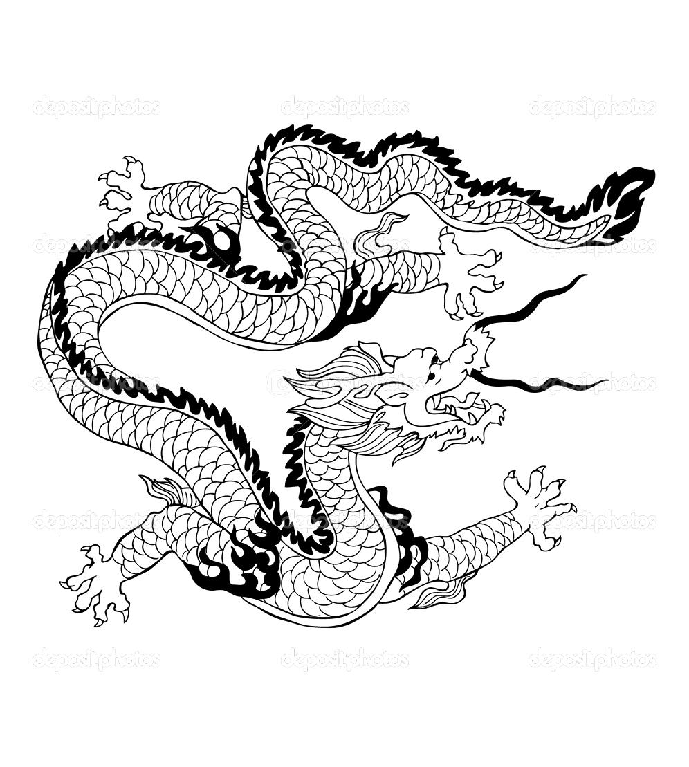 Chine asie coloriages difficiles pour adultes coloriage adulte dragon chinois - Dessin de dragon chinois ...