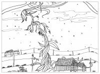 coloriage-adulte-jack-haricot-magique free to print
