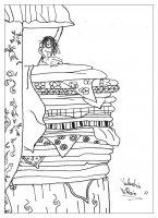 coloriage-adulte-princesse-petit-pois free to print