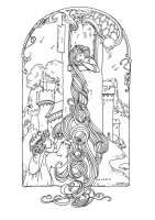 coloriage-adulte-raiponce-style-simple free to print