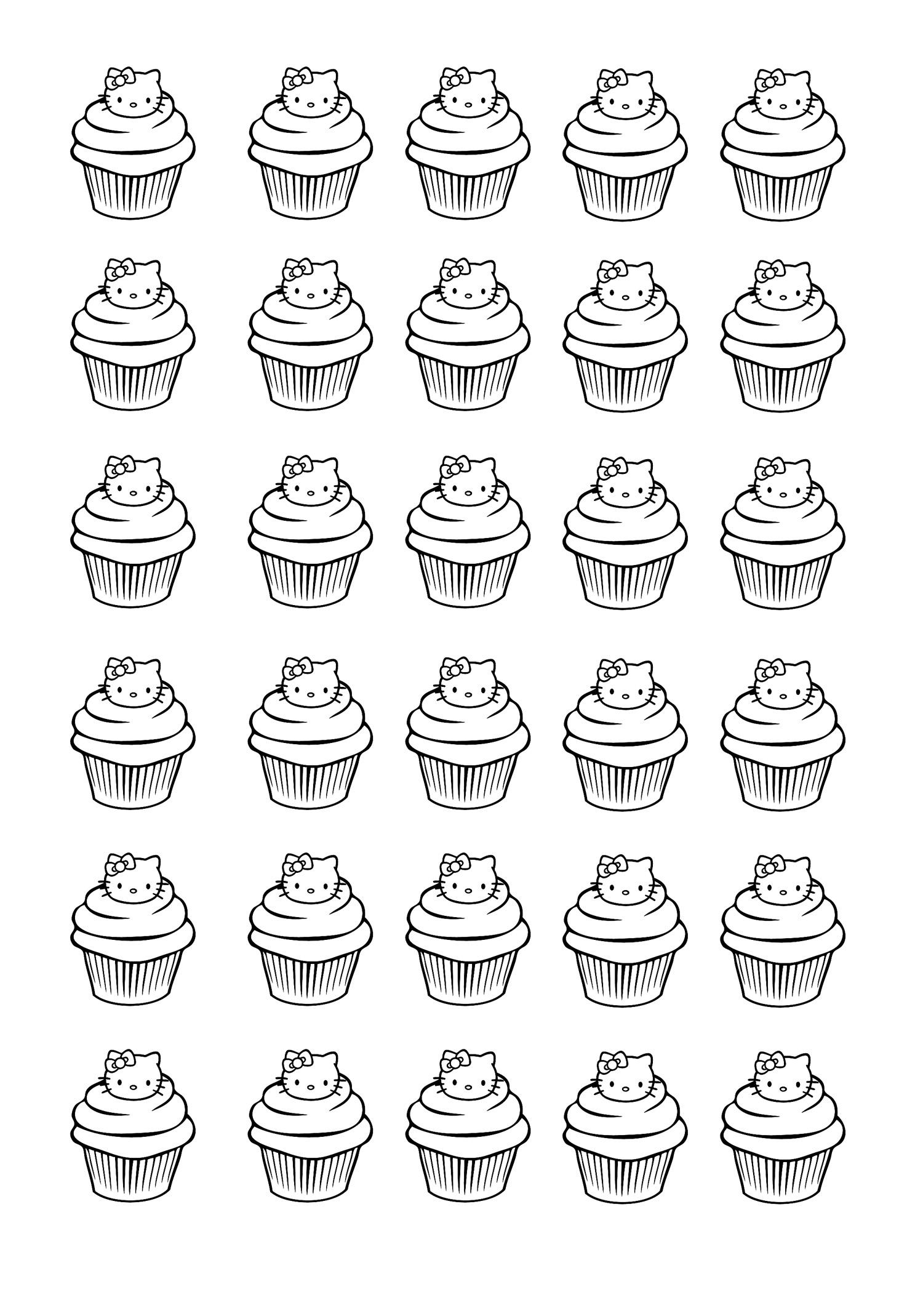 Cup cakes coloriages difficiles pour adultes coloriage cupcakes hello kitty - Coloriage hello kitty et la licorne ...