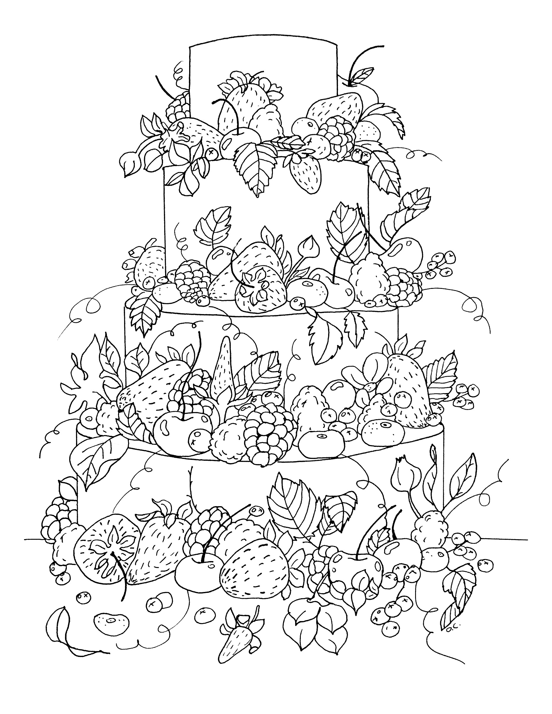 candy coloring pages and fruits - photo#47