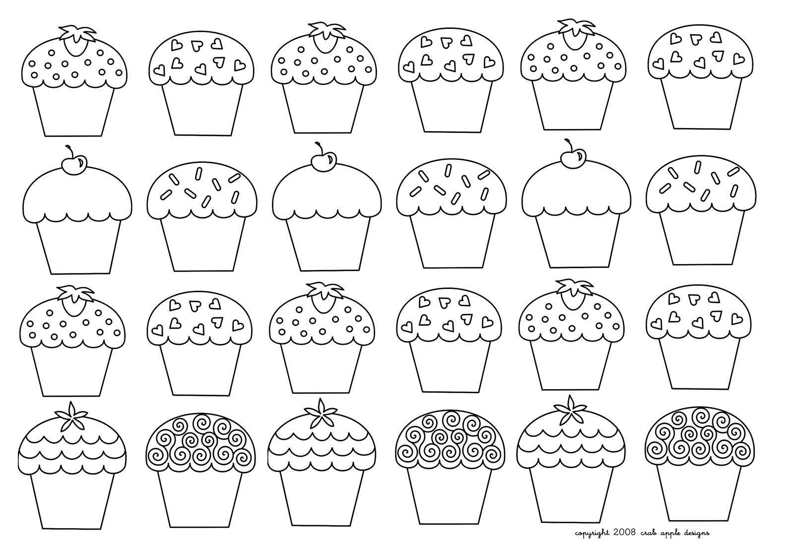 Cup cakes coloriages difficiles pour adultes coloriage - Dessin cupcake ...