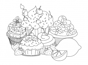 beautiful-sweet-cupcake-coloring-pages free to print