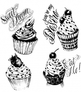 coloriage-adulte-cupcakes-vintage free to print