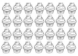 Cup Cakes Coloriages Difficiles Pour Adultes
