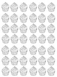 coloriage-cupcakes-warhol-difficile free to print
