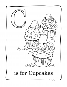 coloriage-facile-cupcakes free to print