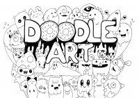 coloriage-adulte-doodle-art-rachel free to print