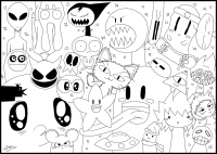 coloriage-adulte-doodle-monster-world-par-jim free to print