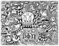 coloriage-doodle-etrange-par-bon-arts free to print