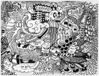 coloriage-doodle-lover-par-bon-arts free to print