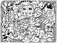 coloriage-doodle-rigolo-par-bon-arts free to print