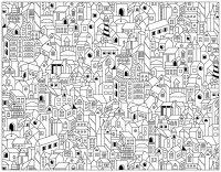 doodle-batiments-ville free to print