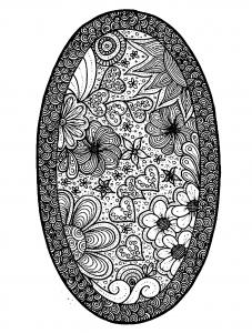 Fleurs et v g tation coloriages difficiles pour adultes page 3 - Coloriage fleur 8 petales ...