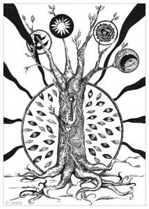 coloriage-adulte-la-cle-de-l-arbre-urielle free to print