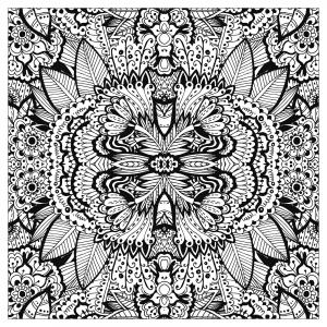 coloriage-adulte-tapis-de-fleurs-tres-complexe-carre-par-valeriia-lelanina free to print