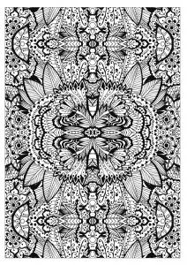 coloriage-adulte-tapis-de-fleurs-tres-complexe-par-valeriia-lelanina free to print