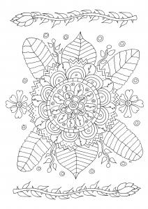 coloriage-fleurs-et-motifs-simples-par-olivier free to print