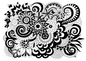 coloriage-fleurs-noir-et-blanc-par-bimdeedee free to print